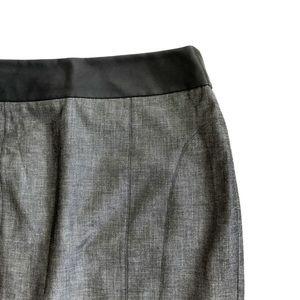 Express Gray Pencil skirt faux leather waist Sz 12